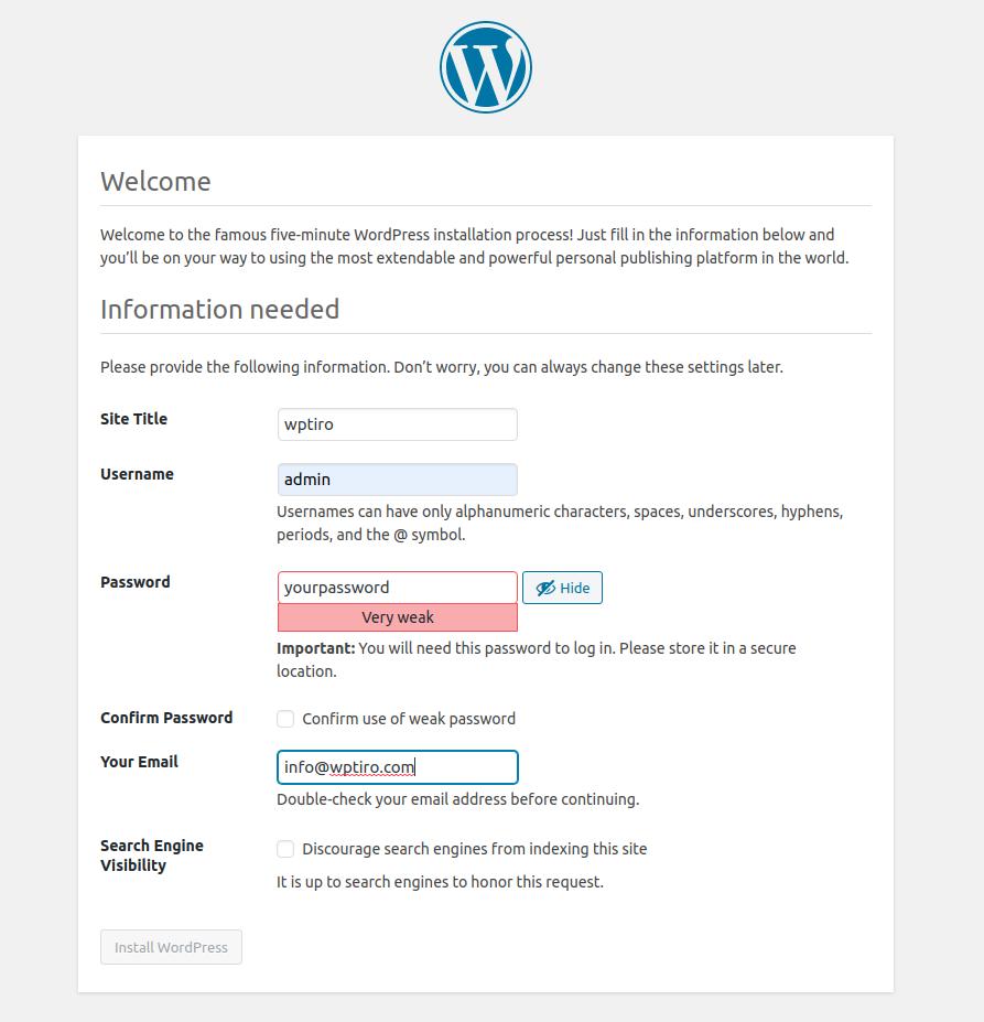 wordpress site profile