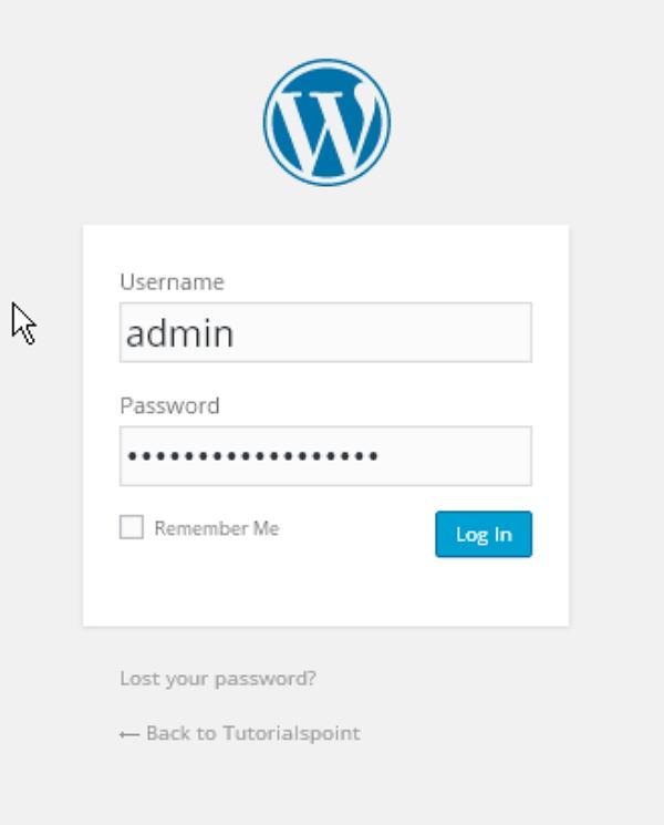wordpress installation step7